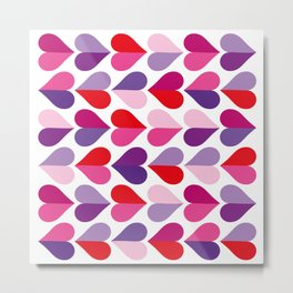 Love and Kisses in Ultra Violet Metal Print
