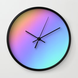 Holographic Foil Multi Colored Pattern Colorful Gradient Abstract Rainbow Wall Clock