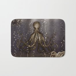 Octopus' lair - Old Photo Bath Mat