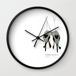 Diemond shoes Wall Clock