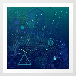Symbols and elements of Sacred geometry Art Print