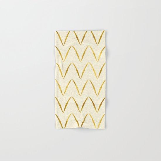 Cream Gold Foil 05 Hand & Bath Towel