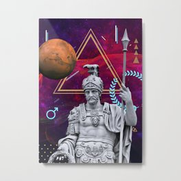Ancient Gods and Planets: Mars Metal Print