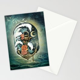 Navigate waves and stars Stationery Cards