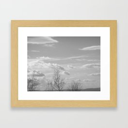Waving bye to the rolling clouds Framed Art Print