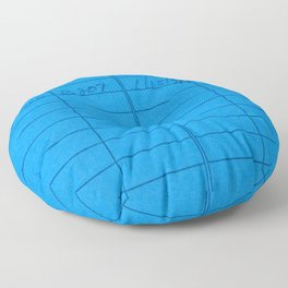 Library Card 797 Blue Floor Pillow