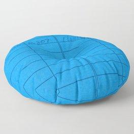 Library Card 797 Blue Floor Pillow