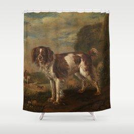 A partridge dog - Paulus Potter (1653) Shower Curtain