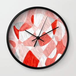 Quilt Abstract Painting 3 Beach Surf Wave Wall Clock