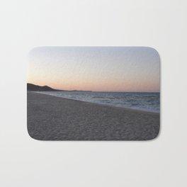 Divided: Sand, Ocean, and Sky Bath Mat