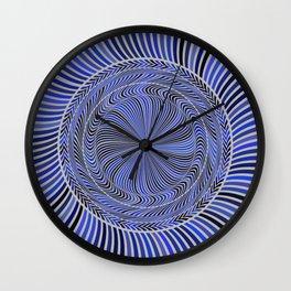 Blue Circles Action Art Wall Clock
