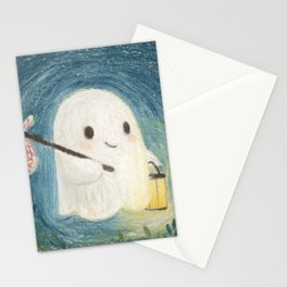 Little ghost in the night Stationery Cards