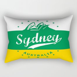 Sydney City, Australia, green yellow, poster Rectangular Pillow