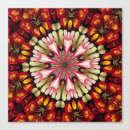 Botanical Dreams Mandala Canvas Print