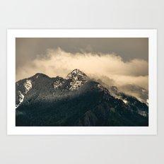 Snow Fog Mountain Olympic National Park foggy forest trees travel love adventure wild america sky 6 Art Print