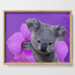 Koala and Orchid Serving Tray
