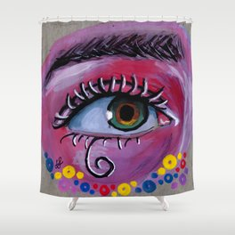 """eye of the Possum"" Shower Curtain"