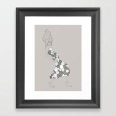 Japanese Couture Fashion Illustration Framed Art Print