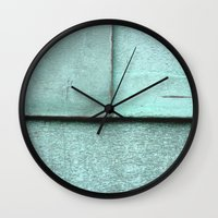 aqua Wall Clocks featuring Aqua by Shy Photog