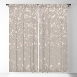droppin stars white Blackout Curtain