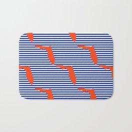 Florida university gators orange and blue college sports football stripes pattern Bath Mat