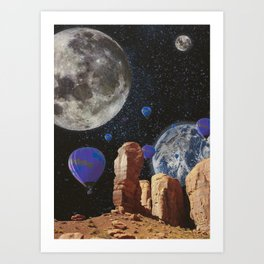 The slow trip in the universe Art Print