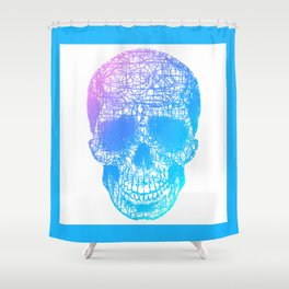 Scribble Skull Shower Curtain