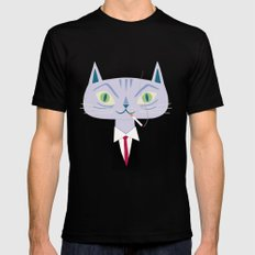 One Cool Cat Black MEDIUM Mens Fitted Tee