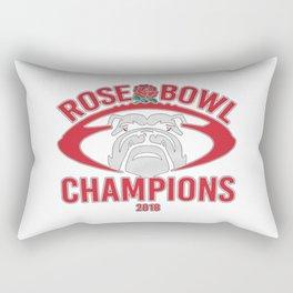 Bulldogs Rose Bowl Champions Rectangular Pillow