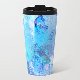 AURAL BLUE CRYSTALS ART Travel Mug