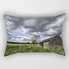 Green Stones Countryside Farm House Rectangular Pillow