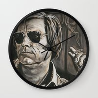 phil jones Wall Clocks featuring Jones by Buddy Owens Paintings