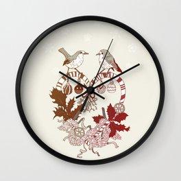 Robin Wreath Wall Clock