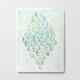 Saltwater Heart Metal Print