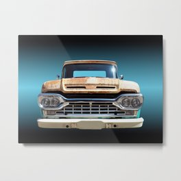 US American classic car F100 Pickup 1960 Metal Print