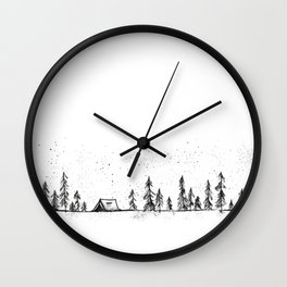 Summer Camp Night Wall Clock