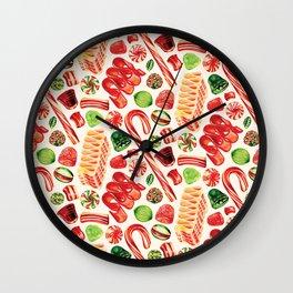 Christmas Candy Pattern Wall Clock