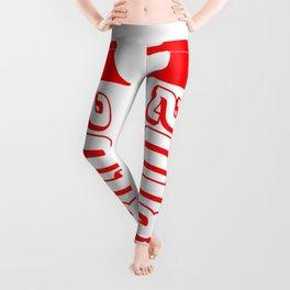 Red 2018 Megaphone Leggings