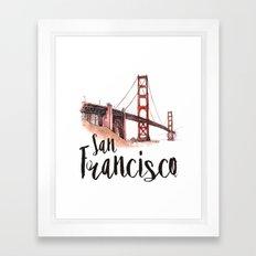 San Francisco watercolor Framed Art Print
