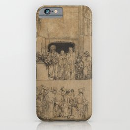 Rembrandt - Christ Presented to the People (1655) iPhone Case