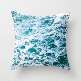 West Coast Sea Foam Throw Pillow