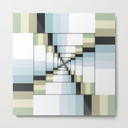 Geometric Earth Tones Metal Print