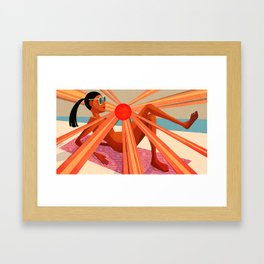 BENEFITS OF BEING NAKED Framed Art Print