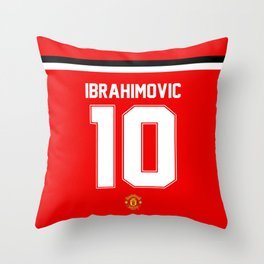 Ibrahimovic Edition - Manchester United Home 2017/18 Throw Pillow