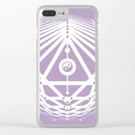 Radiant Abundance (lavender-white) Clear iPhone Case