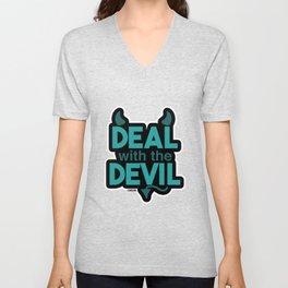 Poker Devil gambling card Gift Unisex V-Neck