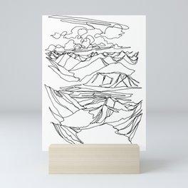 Alec and Echo Lake :: Single Line Mini Art Print