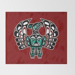 Northwest Pacific coast Haida art Thunderbird Throw Blanket