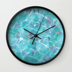 Fresh Blue Wall Clock