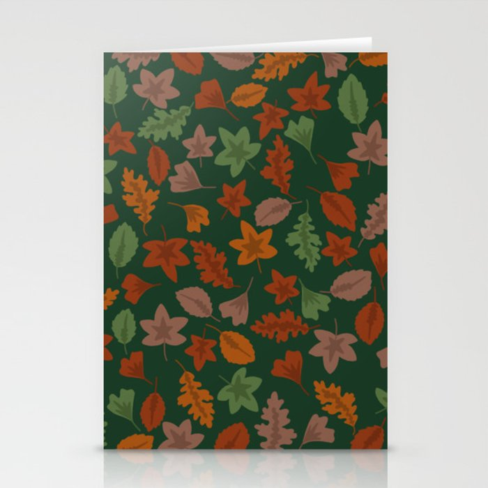 Autumn Leaves Stationery Cards By Vibrantvibe Society6